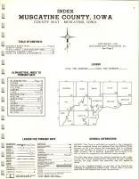 Index map, Muscatine County 1971